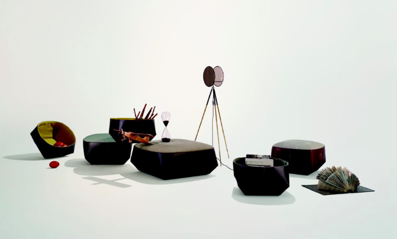 Isanka occasional pieces by EOOS for Walter Knoll.  Austrian design trio EOOS debuted this collection in 2014, and while the objects may seem run-of-the-mill (an upholstered ottoman-meets-table, a basket for periodicals) the materials are the prize. Saddle leather—a supple portion of the cowhide to which we devoted a special portion of our March 2015 issue design issue—joins pure wool, linen, and cotton textiles.  Best of the Best: immcologne 2015 by Amanda Dameron