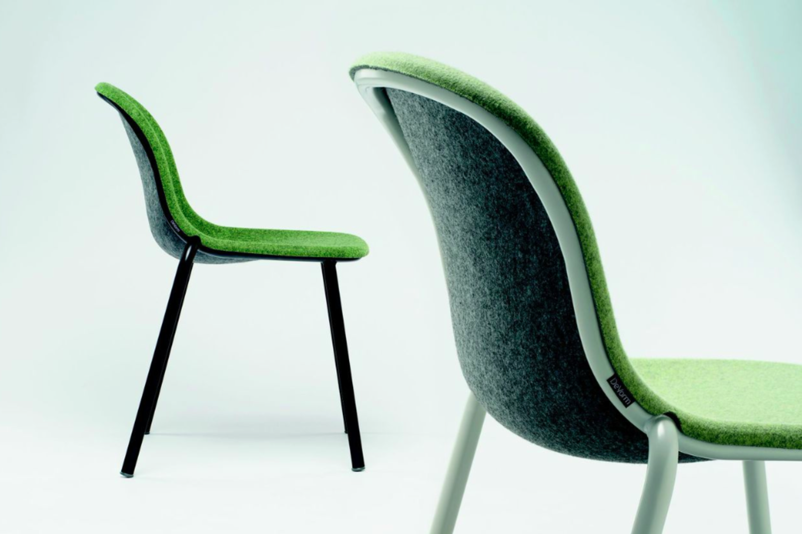 LJ chair by Laurens van Wieringen for De Vorm.  Dutch designer Laurens Van Wieringen married a powder-coated steel frame with a seat made of recycled PET bottles, and LJ was born. Van Wieringen, who is winning the game of repurposing cast-off materials, brings a discerning eye and a plethora of manufacturing acumen to the process of making this chair. Simple, good-looking AND recycled? Yes.  Best of the Best: immcologne 2015 by Amanda Dameron