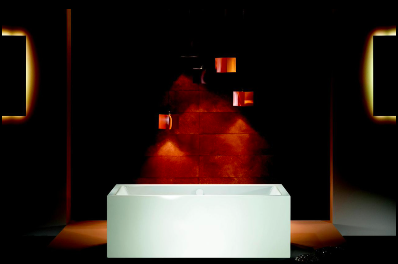 Meisterstücke Conoduo freestanding bath by Sottsass Associati for Kaldewei.  This rectangular steel tub carries a 30-year warranty and one could argue that it's not needed—these babies are nearly indestructible. This company has been making bathtubs for nearly 100 years, and the decision to team up with Ettore Sottsass, and after his death in 2007, with his firm, shows an old-worth resolve to stay relevant in an ever-changing marketplace.  Best of the Best: immcologne 2015 by Amanda Dameron