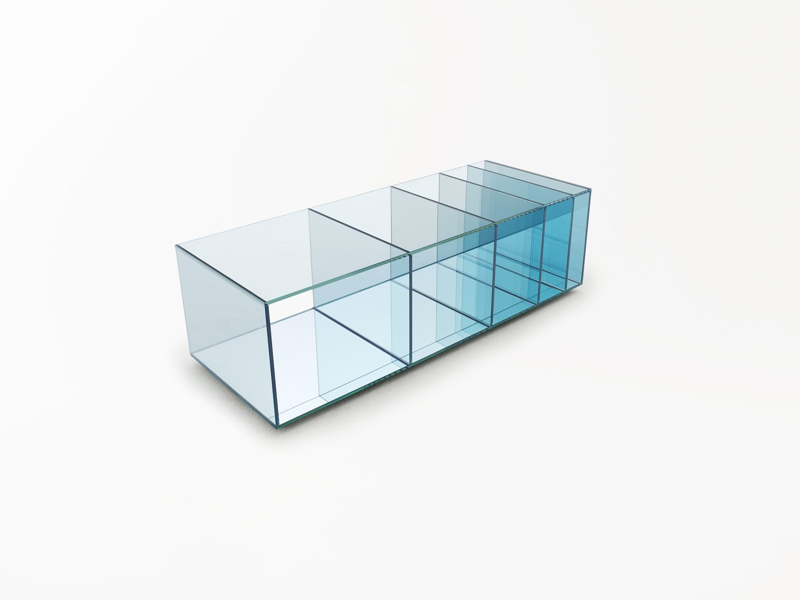 The Deep Sea collection by Nendo for Glas Italia achieves its color gradient with varying glass thickness.  Photo 7 of 9 in New York Design Gallery Chamber is a Cabinet of Curiosities