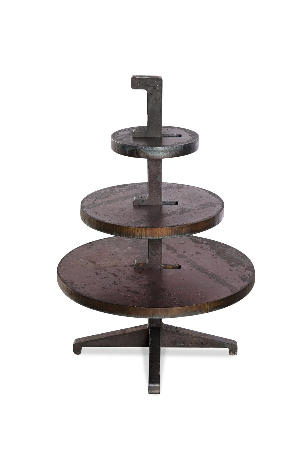 An industrial take on the cake stand, this hardy piece by Tom Dixon is made of durable steel plates.  Photo 9 of 9 in New York Design Gallery Chamber is a Cabinet of Curiosities