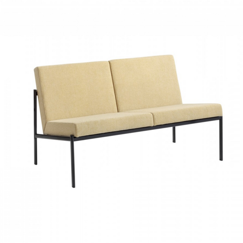The Kiki two-seater sofa by Ilmari Tapiovaara for Artek will be featured in Austere's lounge space at Dwell on Design NY. The sofa, designed by a Finnish design great and manufactured by one of Finland's foremost furniture manufacturers, is covered in Hallingdal fabric made in Denmark.