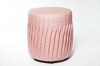 Swedish designer Mary-Louise Hellgren crafts her striking Rosa poufs with upholstery made from air-bag material.