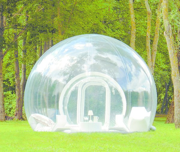 Cristal Bubble, by Pierre Stéphane Dumas, 2014  This plastic-wrapped hotel room debuted in France, yet its inflatable design lets travelers sleep under the stars anywhere they please (anywhere secluded enough for see-through walls, that is). The spheres are available to rent in several Western European countries.  Seriously Tiny (and Slightly Strange) Hangouts That Push the Limits of Micro-Living by Luke Hopping