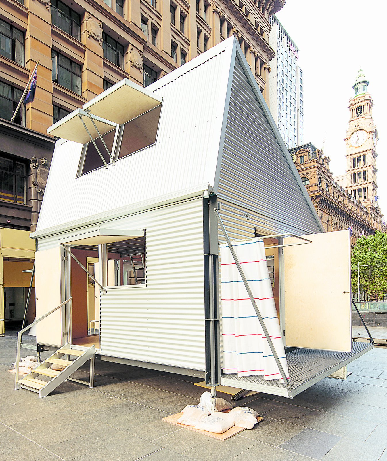 GRID, Carter Williamson Architects, 2012  Envisioned as emergency housing for after tsunamis, this steel prefab from Australia arrives flat-packed and can be assembled in four hours. With solar panels and rainwater tanks, it's possible for it to house up to 10 people in a pinch.  Seriously Tiny (and Slightly Strange) Hangouts That Push the Limits of Micro-Living by Luke Hopping