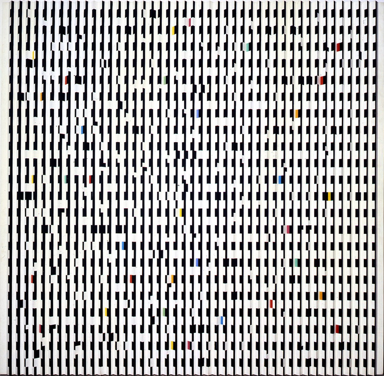 """Pictured is """"Staccato"""" by Yaacov Agam, an Israeli artist who became a leading figure in the op art movement.  This is What Design Looked Like in Israel in 1965 by Allie Weiss"""