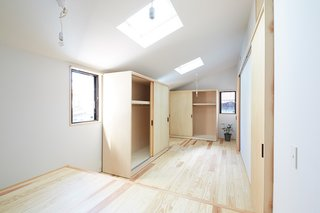 The same space, reconfigured to make two bedrooms into one.