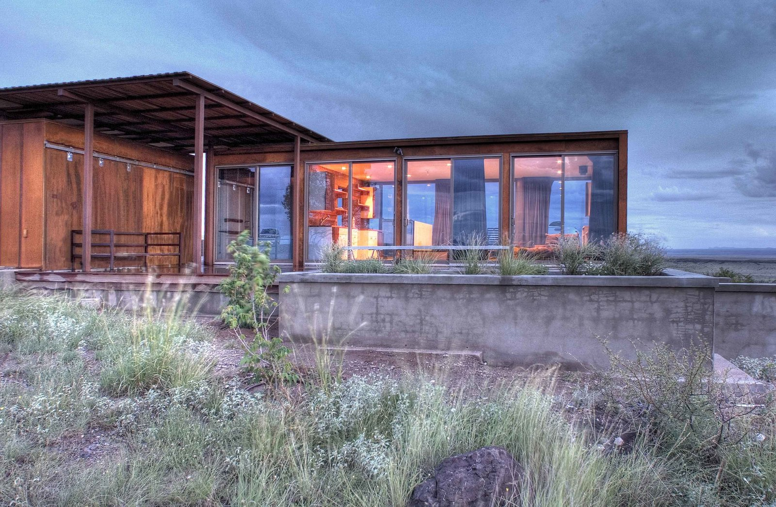 Photo 4 of 8 in home tour a petite prefab with stunning for Prefab concrete homes texas