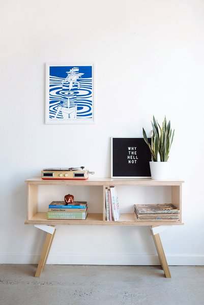 Any combination of dining tables, desks, coffee tables, credenzas, standing desks, and more, are possible. And of course, the wood can be easily painted for a more colorful design.
