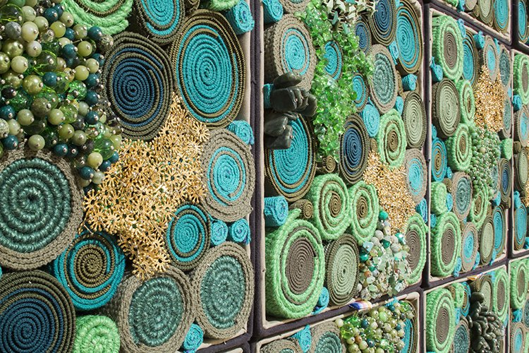 Installation view of Steven and William Ladd's exhibition Blood Bound.  Brothers Steven and William Ladd use a variety of techniques and tools to create their jewel-box installations, often working in collaboration with young people to turn recycled materials into art. They're currently building one of their biggest installations yet—a massive 3D mural to be installed in downtown Brooklyn this spring.  Photo 8 of 8 in When Art and Architecture Meet, the Results Can Be Wild