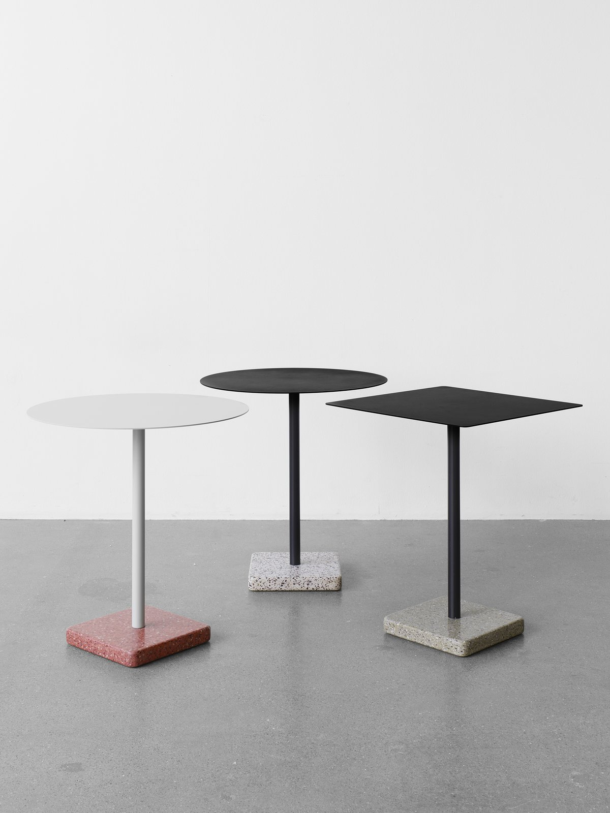 A distinctive terrazzo base is the defining feature of this Daniel Enoksson–designed table, appropriate for indoor or outdoor settings.  A Big Hello to These New HAY Launches by Allie Weiss