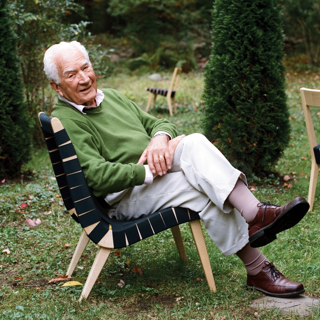 The designer sits in his iconic chair, first manufactured for Knoll in 1943 and still in production today. In honor of the midcentury master, Chairish has created a collection of his favorite chairs.  Photo 9 of 9 in Happy 100th Birthday, Jens Risom