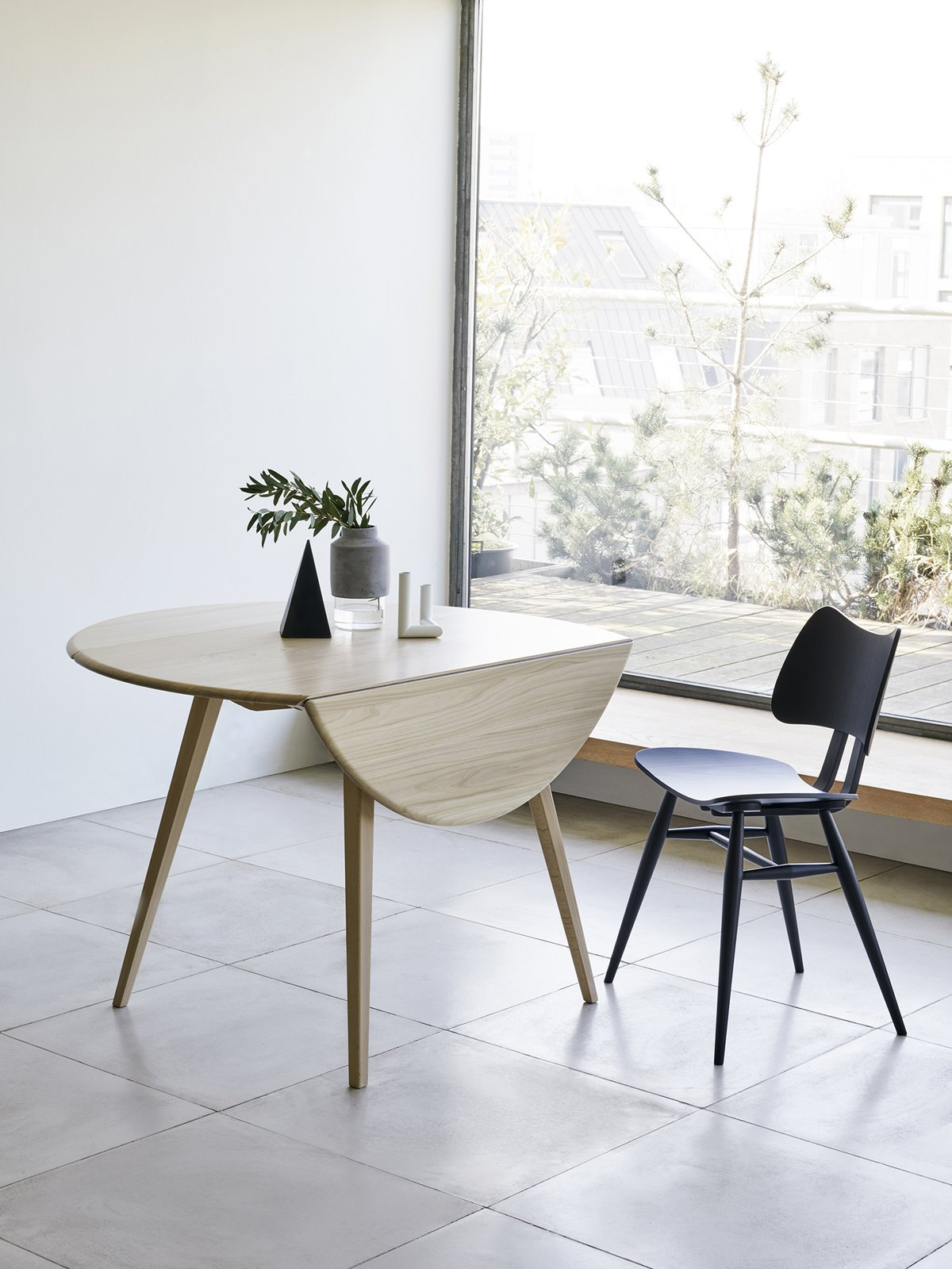 Ercol reintroduces the Originals Drop Leaf Table, which first launched in the 1950s. The elm-and-beech table has two folding flaps, which easily expand to seat four.  Photo 3 of 9 in New Products to Solve Your Tiny Apartment Woes