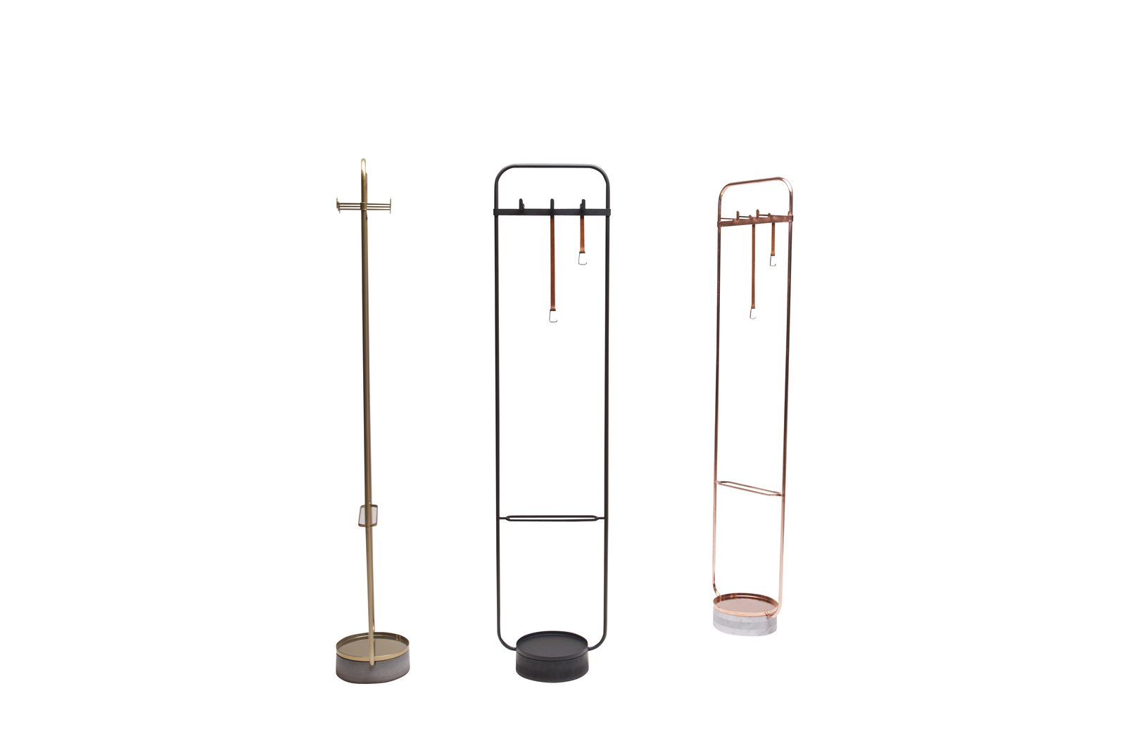 Hangar by Neri&Hu for Offecct contains entryway clutter—the slim metal form is a place to hang coats or bags, with a base of recycled stone that serves as a catchall for other odds and ends.  Photo 8 of 9 in New Products to Solve Your Tiny Apartment Woes