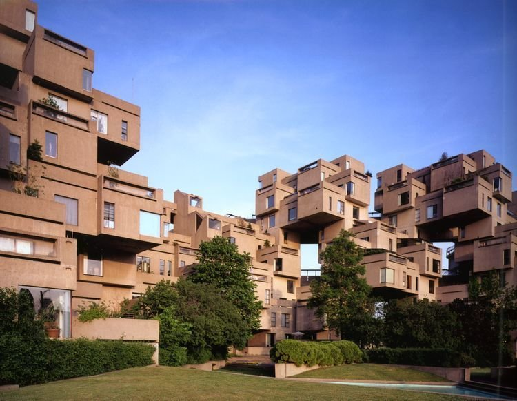 Lifetime Achievement: Moshe Safdie An architect, urbanist, planner, educator, theorist and author, Moshe Safdie has worn many hats over the years. Three years after completing his studies at McGill University, the Israeli-Canadian architect completed his first built project, Habitat '67, a model for community housing that remains seminal today. Originally conceived as his master's thesis project, the structure, completed in 1967, comprises a collage of 354 prefabricated units.  buildings from A Look at This Year's National Design Award Winners