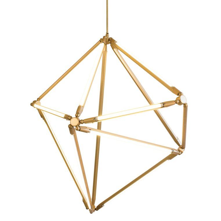 #gold #chandelier #lighting #modular #thin #LED #1970s   Designed by Bec Brittain   60+ Modern Lighting Solutions by Dwell
