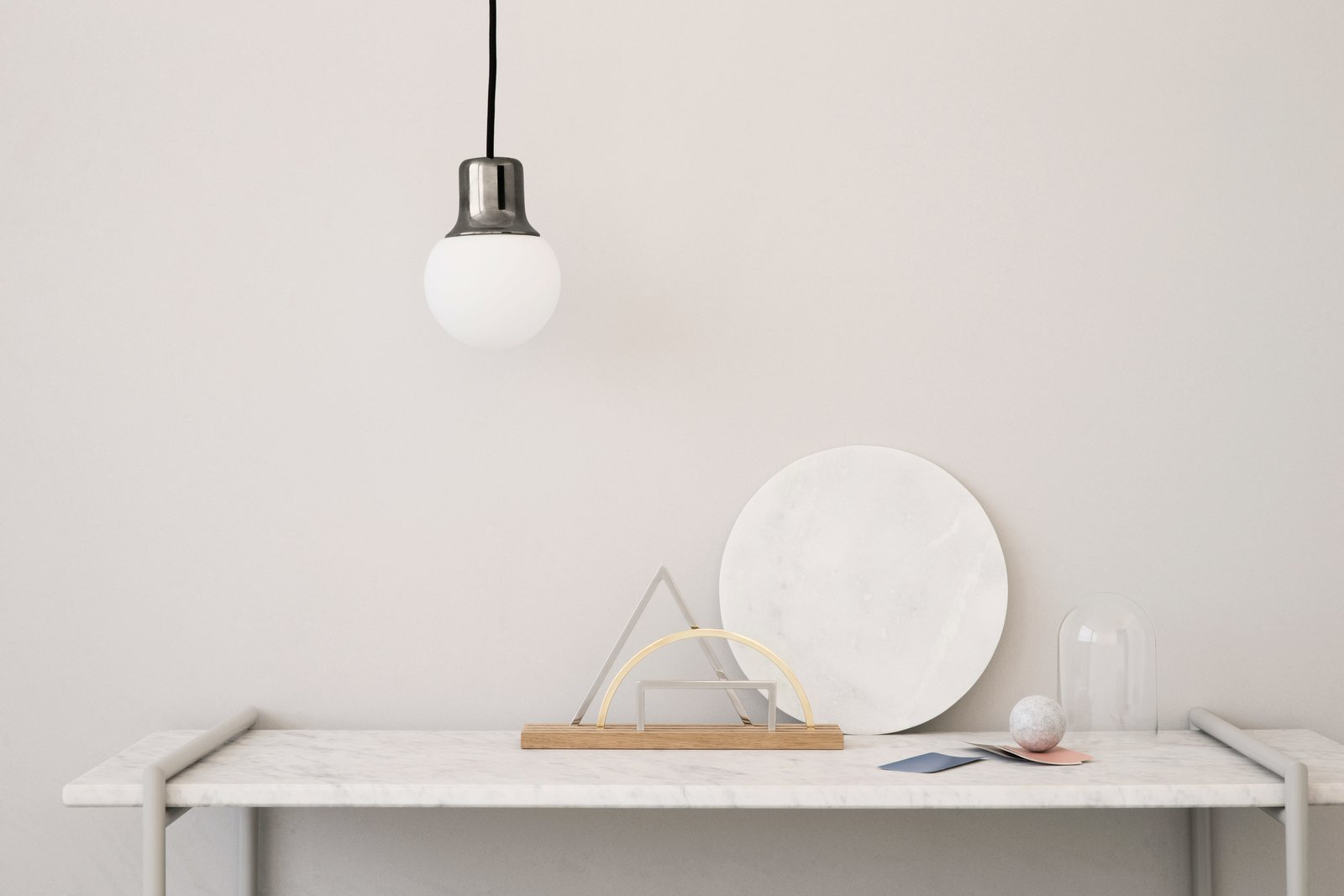 A desk organizer and wall mirror collection by Kristina Krogh.  Photo 5 of 7 in When Good Graphic Design Translates to Great Objects