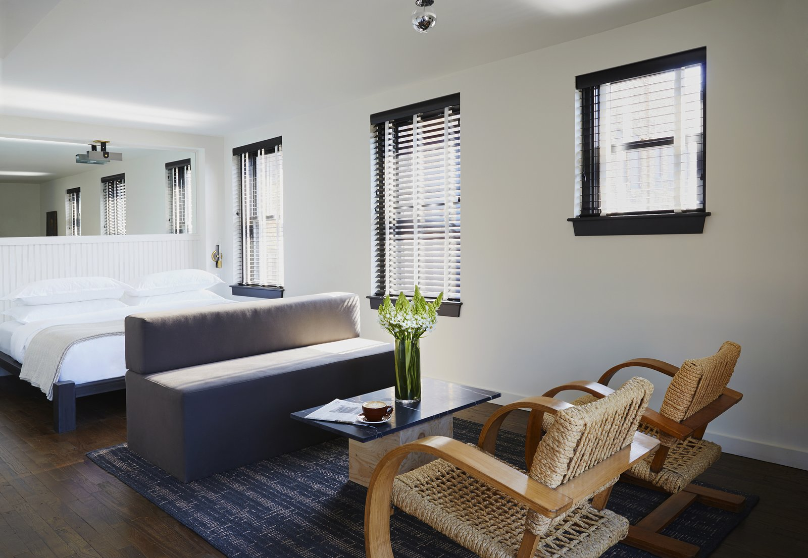 The Dean Hotel in Providence, Rhode Island, was designed Ari Heckman—his design firm ASH NYC used Matouk bedding in every room.  Photo 12 of 12 in How Much Should You Spend on a Duvet? from This Boutique Hotel Loves its City Like No Other