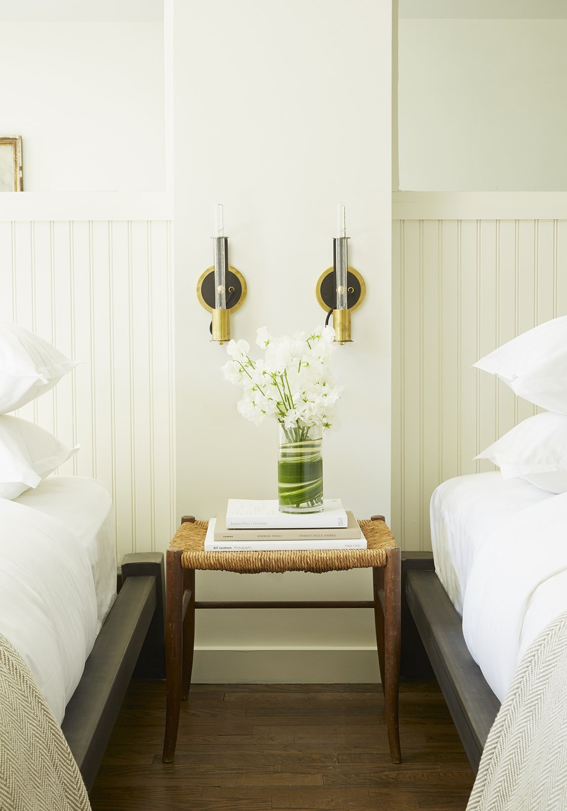 Vermont manufacturer Conant Lighting produced the wall sconces, which are ASH's design, next to each bed.  60+ Modern Lighting Solutions by Dwell from This Boutique Hotel Loves its City Like No Other