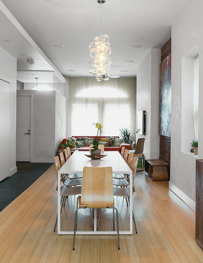 #modern #dining #bamboo #floors #pendant #lighting #harlem   60+ Modern Lighting Solutions by Dwell