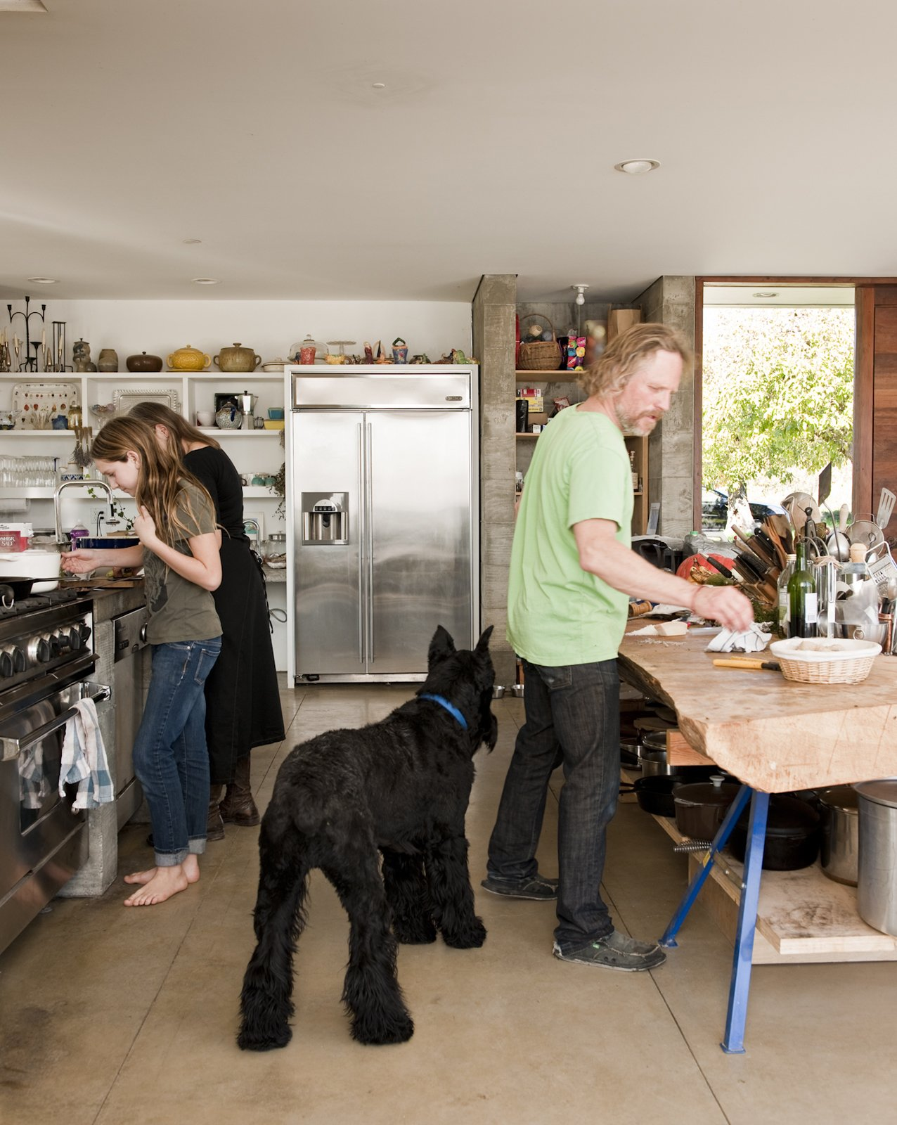 The family needed space not just for cooking, which they do a lot of, but for massive kitchen projects like making wine from their homegrown grapes and oil from their olive trees.  Photo 12 of 18 in A Sonoma Prefab That Celebrates a Family's Passion for Cooking