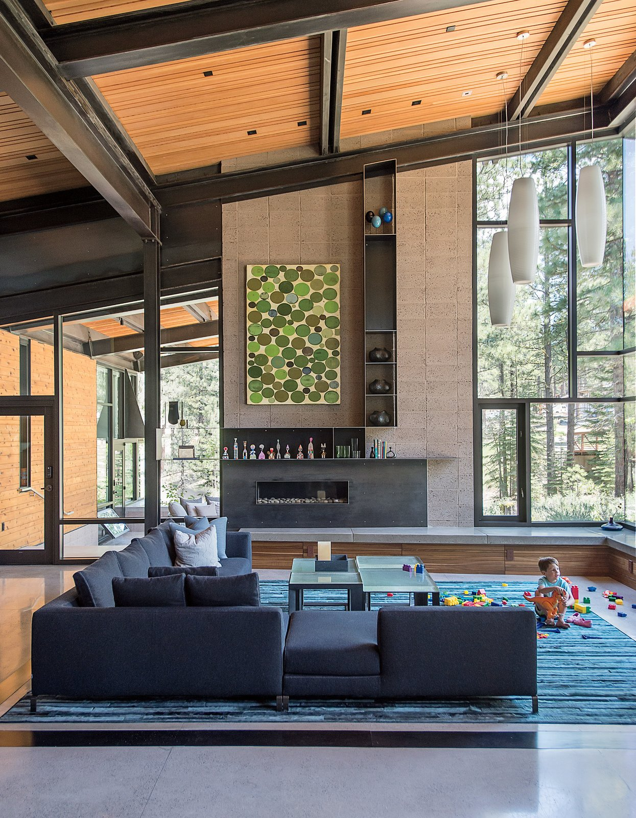 #modern #livingroom #color #design #renovated #garage  Photo by Jim Brady   Tips for Creating a Comfortable Living Room by Drew McGukin