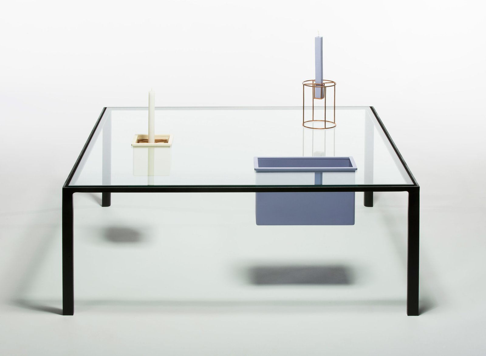 <b>Eny Lee Parker, Savannah College of Art &amp; Design </b>  Inspired by the geometric compositions of artist Kazimir Malevich, the Bento table features two compartments that appear to float in space.  Photo 2 of 5 in Best in (Grad) Show 2016
