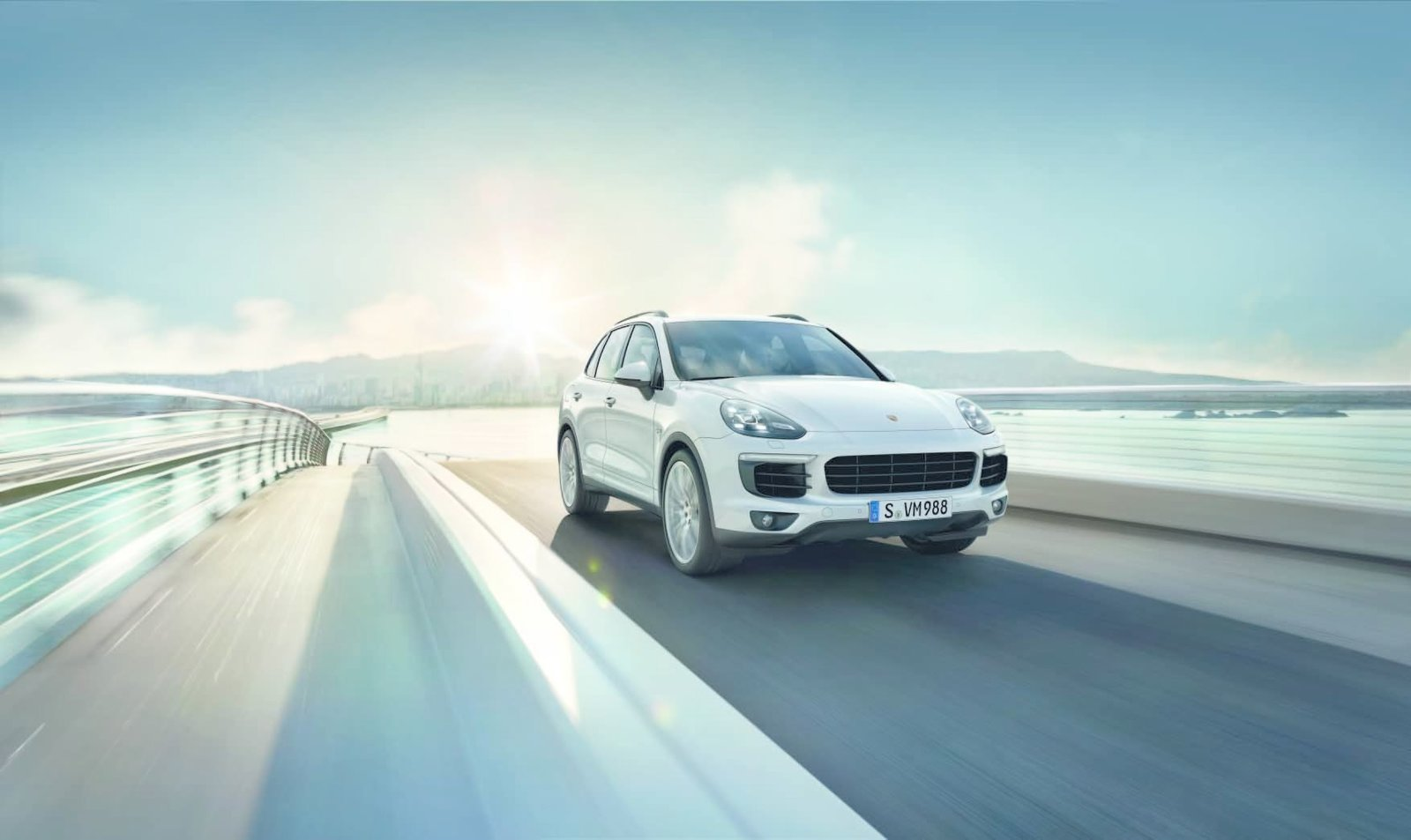 """In front, the hood is likewise broadened. The """"airblades"""" on the left and ride side are more than sleek design flourishes. Together, they efficiently channel air to the car's intercooler.  Photo 4 of 8 in New Porsche Cayenne Editions Promise Greater Efficiency Without Compromising Performance"""