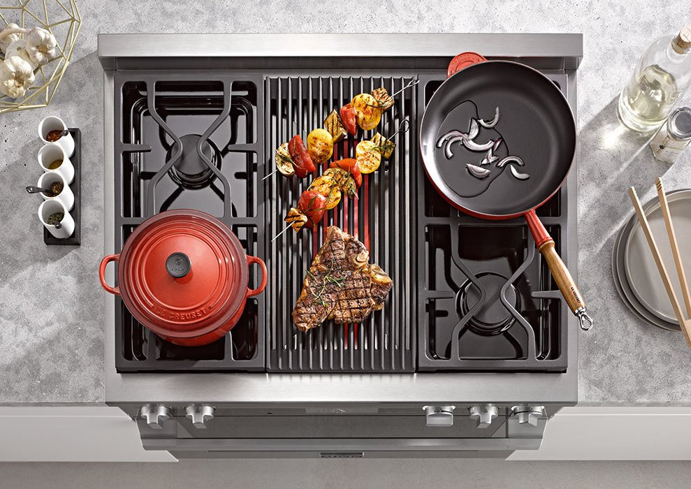 he Rangetop offers users flexibility through the TrueSimmer function, infrared griddle, grill and much more.  Photo 5 of 5 in Sleek Oven Will Solve Your Cooking Needs