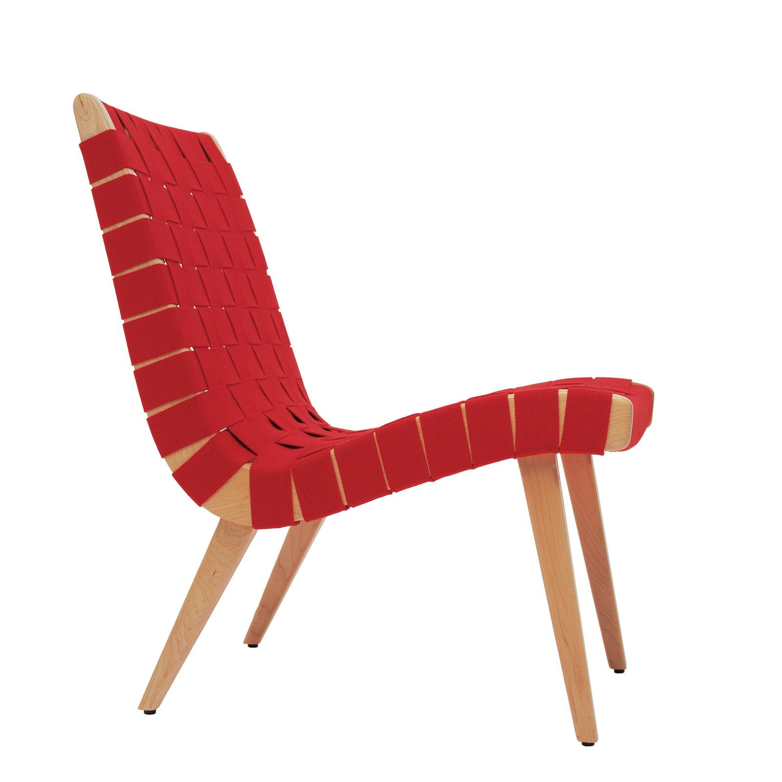 The lounge chair Risom designed for Knoll in 1943, at the height of wartime rationing, used discarded parachute straps for its webbing. When Knoll reintroduced it in 1994, Risom gave a number of the chairs to family members  Photo 2 of 3 in Jens Risom's Family Reflects on the Danish Modern Giant at 100