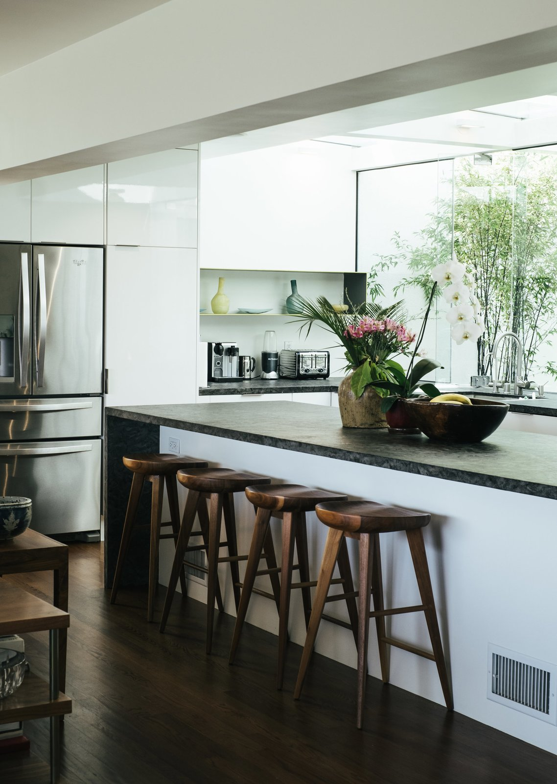 A renovation by Dimster Architecture transformed a Beachwood Canyon home by repurposing and converting multiple rooms, creating a more open, modern dwelling.  Photo 8 of 9 in The Home Tours of Dwell on Design 2016