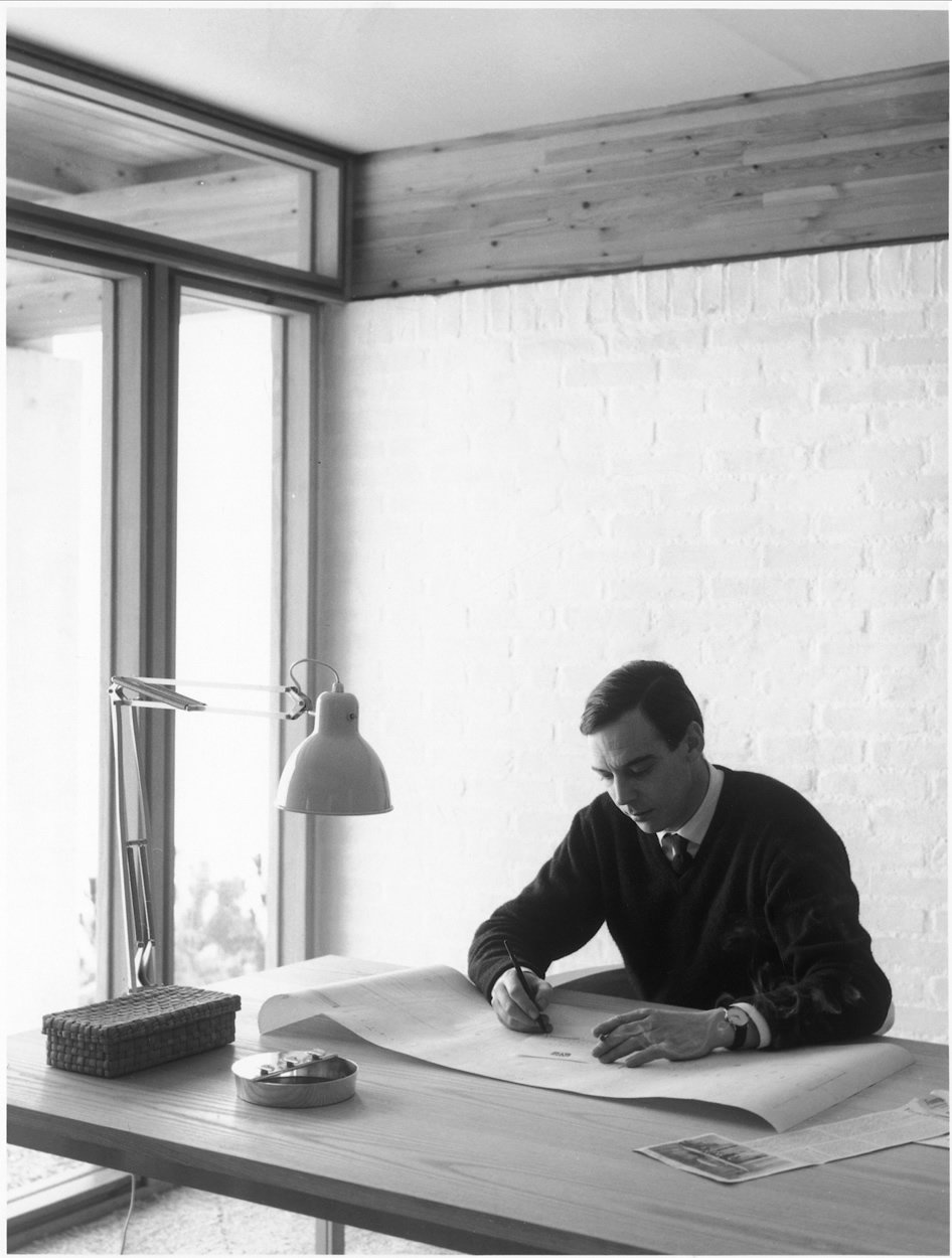 Want to work like the master? The designer's set up included the PK11 armchair paired with the PK55 table.  Photo 11 of 11 in 10 Things You Didn't Know About Poul Kjærholm