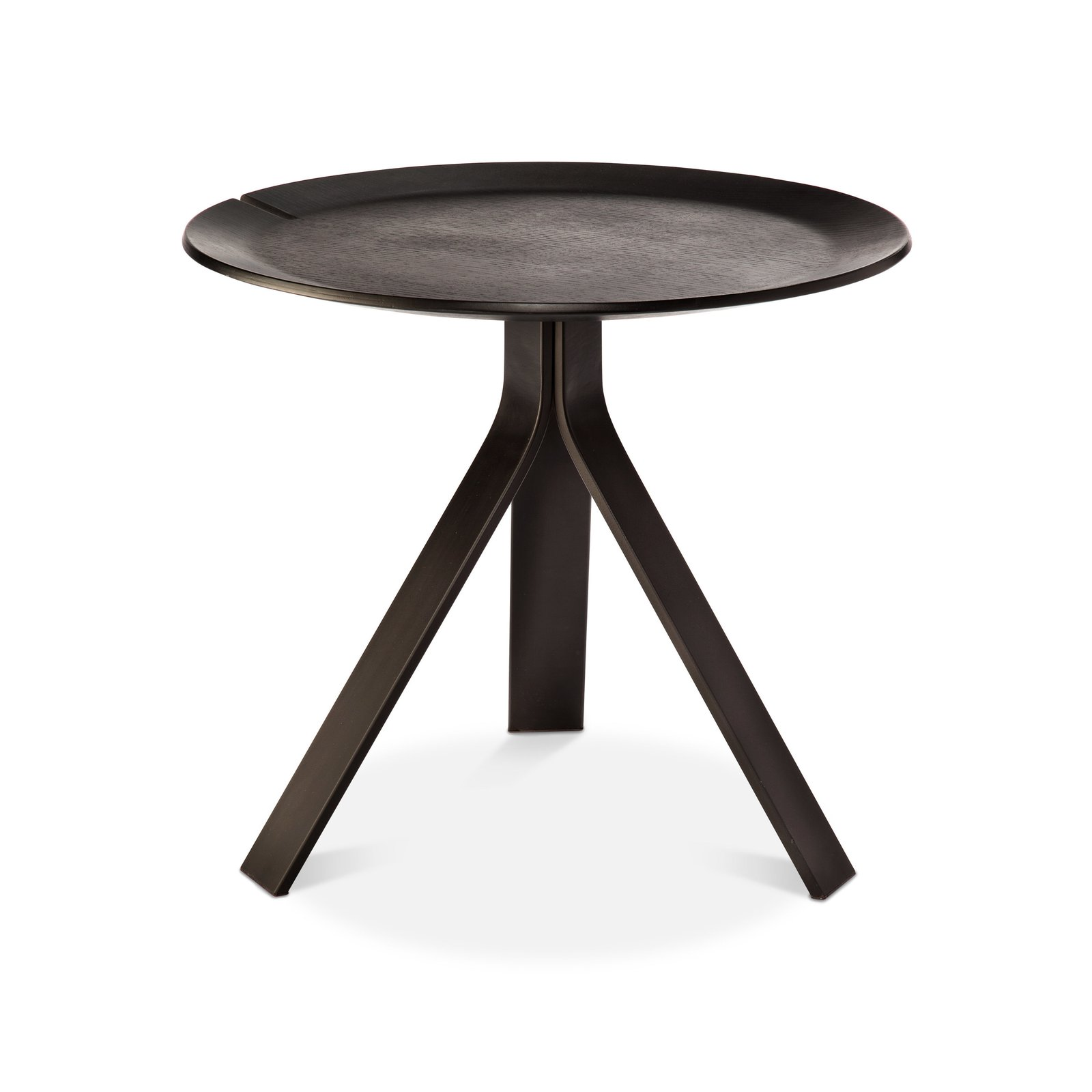 """Side Table, $89.99. Comprising a molded plywood tray top and a trio of powder-coated steel legs, this table was """"designed to make it seem like the top is floating,"""" says Deam.  Photo 5 of 6 in Dwell Leaps Off the Page With a New Collection For Target from Modern by Dwell Magazine"""