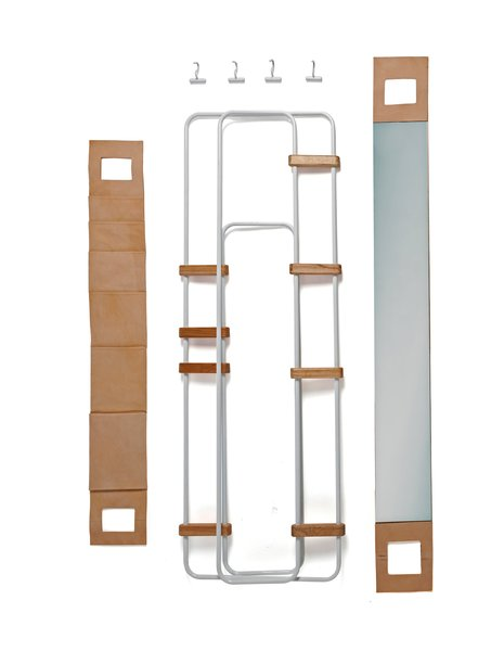 From a basic architecture of metal frames and wood hinges, the LYNKO system can be configured as a work, clothing, or even kitchen storage unit, with about 20 available accessories. Altogether, it weighs 9 to 17.5 pounds, depending on the kit.  Photo 2 of 5 in This Storage System Packs Up in Just Five Minutes