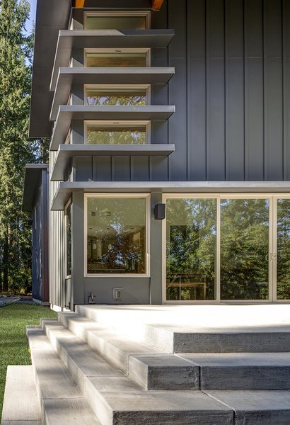 "Exterior and House Building Type Daunted by the challenge of building a new home in Oregon from their existing residence in Minnesota, Rebecca and Peter Gadd chose a prefab design by Stillwater Dwellings. ""The packages and set design options kept us from feeling overwhelmed,"" Rebecca says.  Photo 2 of 5 in Remote Control"