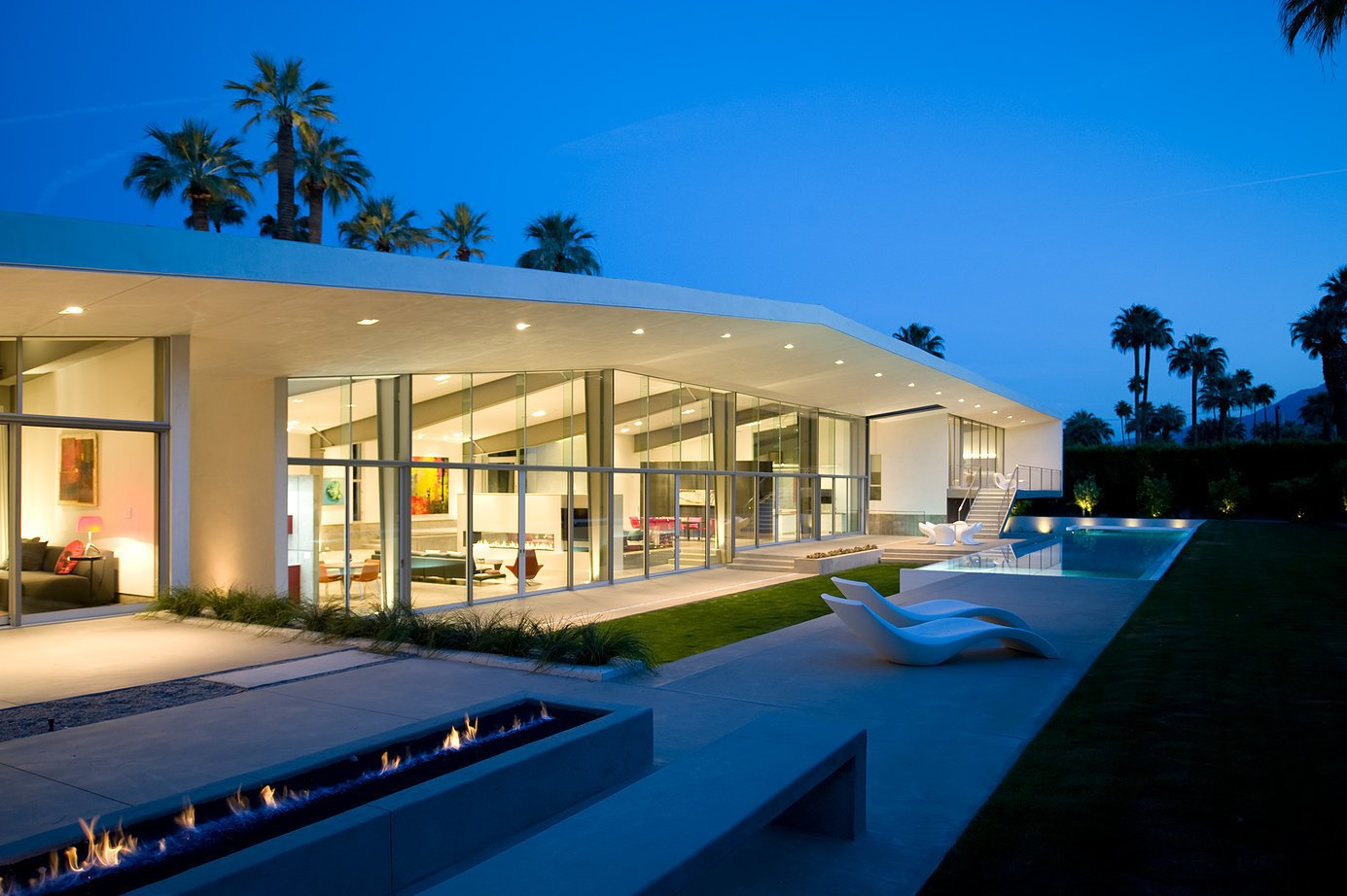 Project Name: Desert Canopy House  Website: http://www.sander-architects.com/ Tagged: Exterior, Prefab Building Type, Glass Siding Material, Metal Siding Material, and House.  Photo 17 of 23 in 22 Modern Prefab Companies That Every Homebuyer Can Rely On