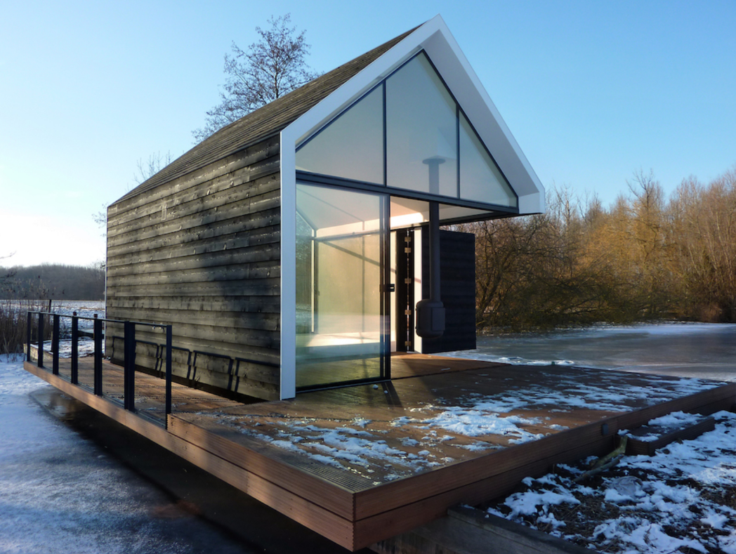 Project Name: Island House  Website: http://www.2by4.nl/language/en/  Tagged: Exterior, Prefab Building Type, Wood Siding Material, Tiny Home Building Type, Glass Siding Material, Gable RoofLine, and Cabin Building Type.  Photo 16 of 23 in 22 Modern Prefab Companies That Every Homebuyer Can Rely On
