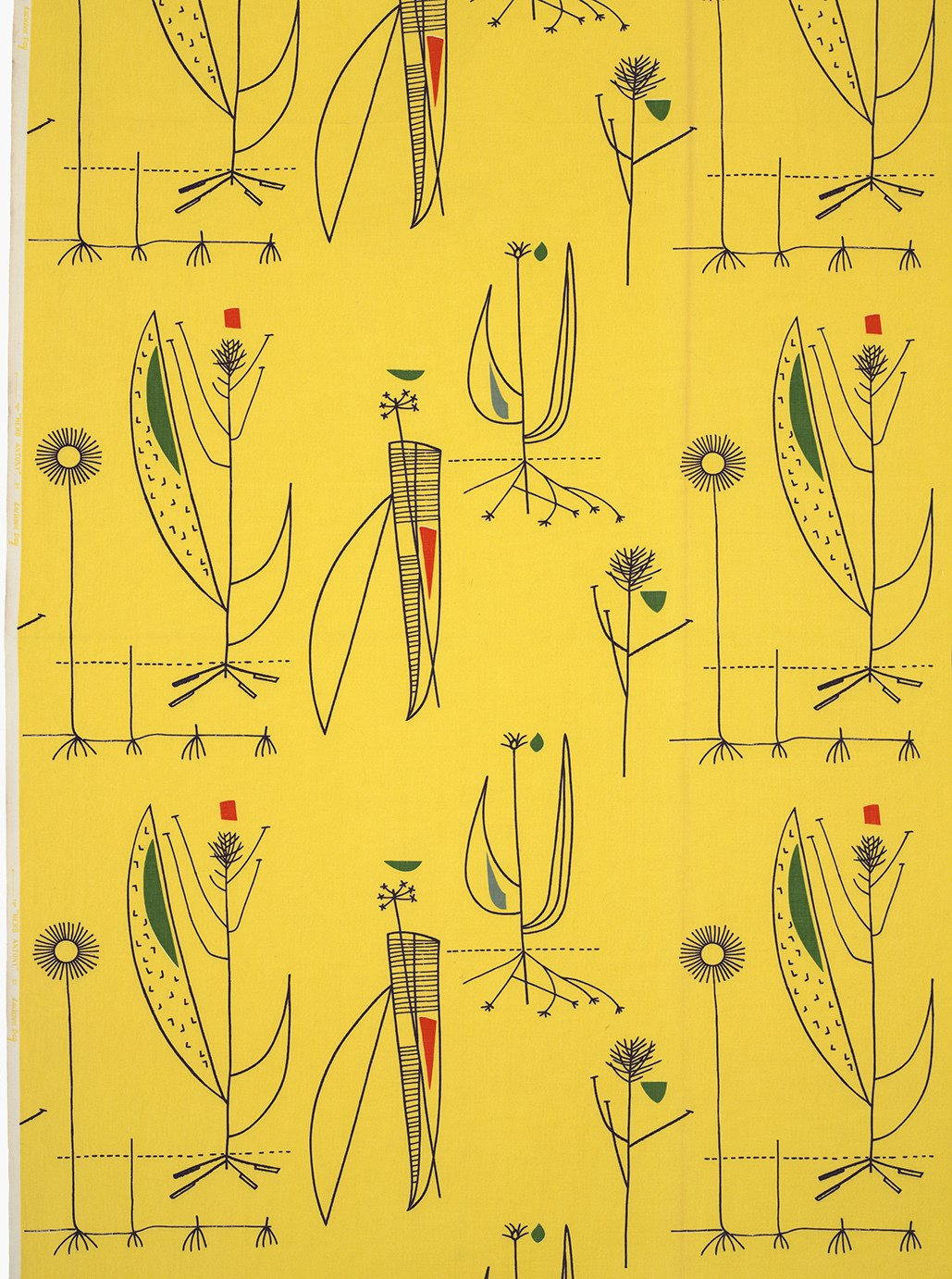 Day's Herb Antony fabric for Heal's (1956) is an example of her bright, optimistic prints that were an antidote to the austerity of World War II and were widely embraced as a fresh alternative to traditional floral fabrics. Image courtesy of The Robin & Lucienne Day Foundation. Collection of Jill A. Wiltse and H. Kirk Brown III, Denver.  Photo 4 of 5 in All in a Day's Work