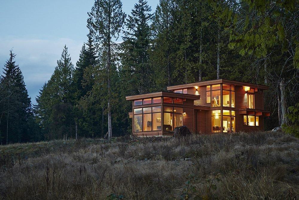 modern prefab cabin exterior