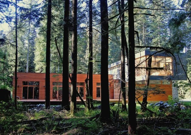 Exterior, Prefab Building Type, and Wood Siding Material Project Name: North Bend Residence  Photo 20 of 20 in 19 Modern Prefab Companies Perfect for Mountain Living