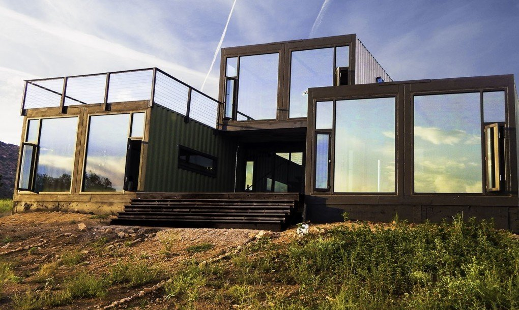 Exterior, Shipping Container Building Type, Prefab Building Type, Metal Roof Material, and Metal Siding Material Project Name: Cañon City  Photo 12 of 17 in 16 Prefab Shipping Container Home Companies in the United States