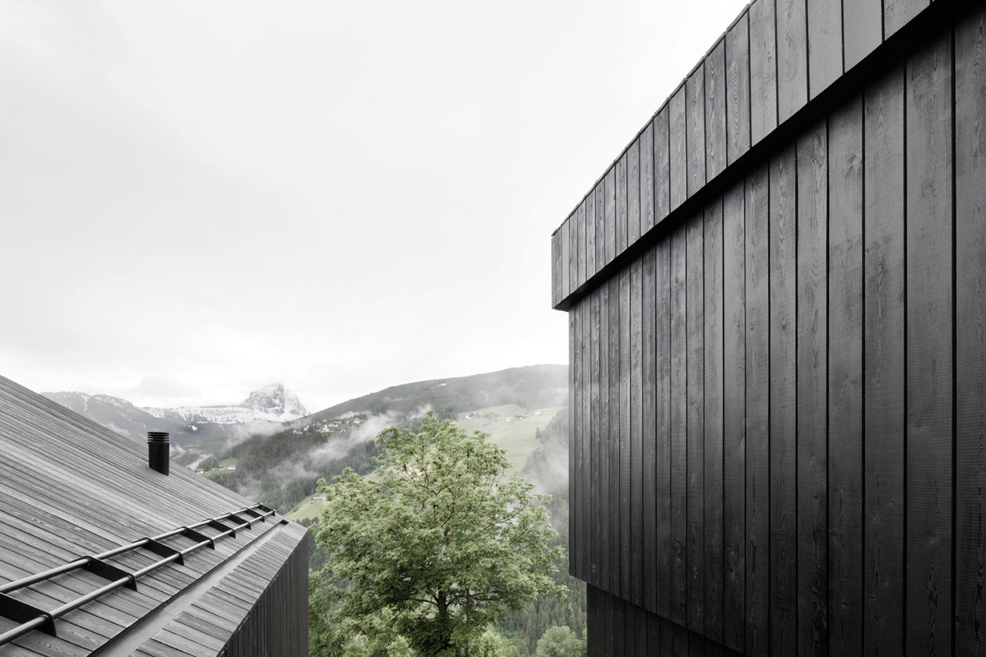 Exterior, Wood Siding Material, Cabin Building Type, and House Building Type Armin and Alexander Pedevilla took design inspiration from the traditional farmhouses of the region.  La Pedevilla