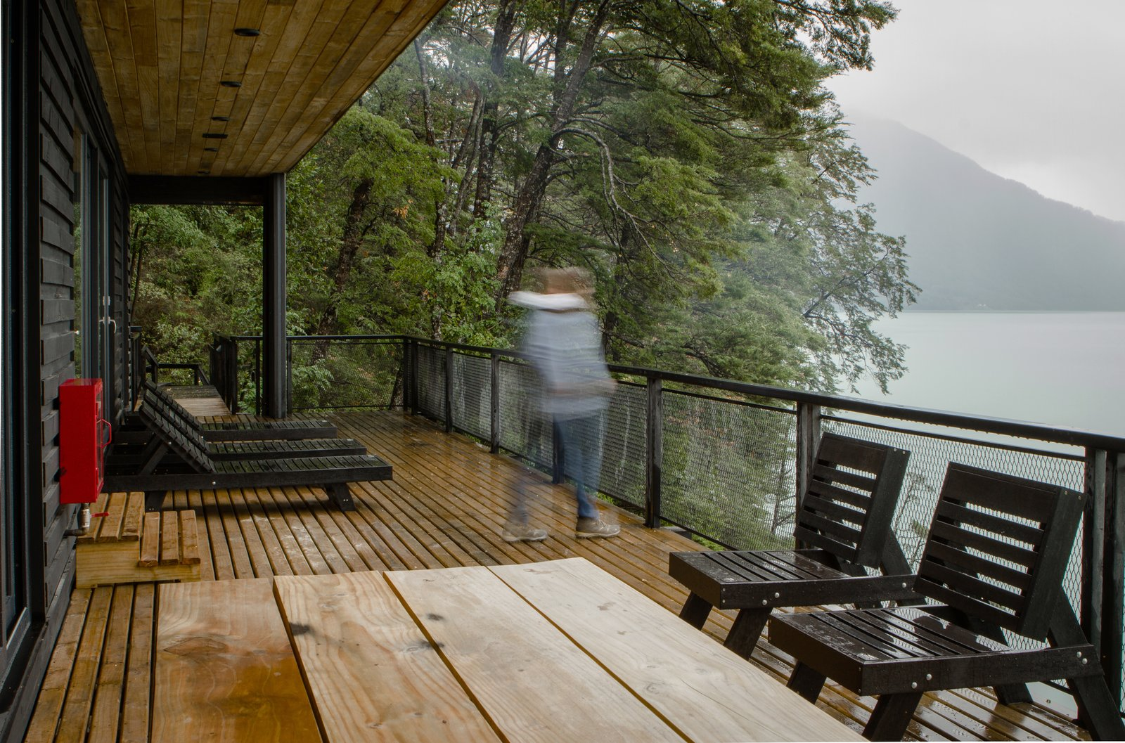 """""""The weather is really good in summer with really hot days, but almost the entire rest of the year is rainy, with wind and clouds,"""" says Chadwick of the national park. """"It's one of those places where you can live through all four seasons in a day.""""  Casa Lago Todos los Santos"""
