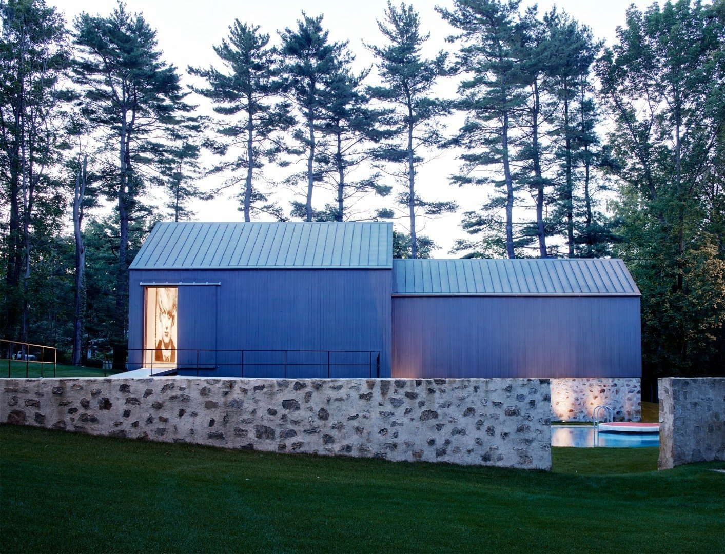 The stone treatment works as a connecting factor throughout the property and preserves a building practice that was common at the time.   Wiley House