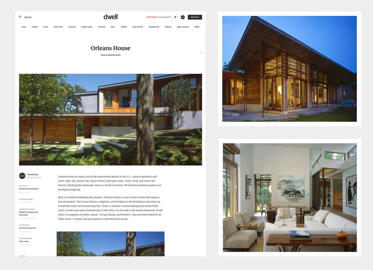 The award winning Orleans House submitted and designed by Charles Rose Architects.  Photo 1 of 7 in Add a Home to Dwell