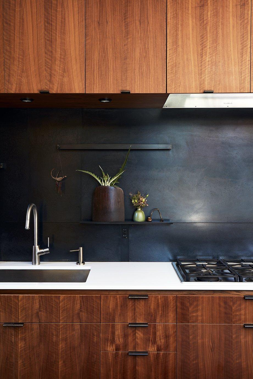 metal kitchen backsplash