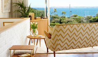Created by Angela and Olivier Noverraz, the design team behind the Trevose Harbour Hotel, Sands Studio boasts sweeping views over St Ives Bay from a private balcony.