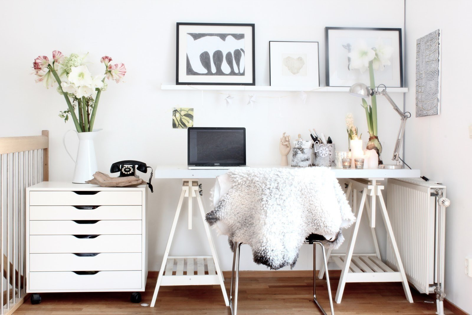 Small nooks and corners can provide office space when working on a limited budget.  Photo 8 of 10 in 10 Ways to Create a Modern Workspace in Your Attic
