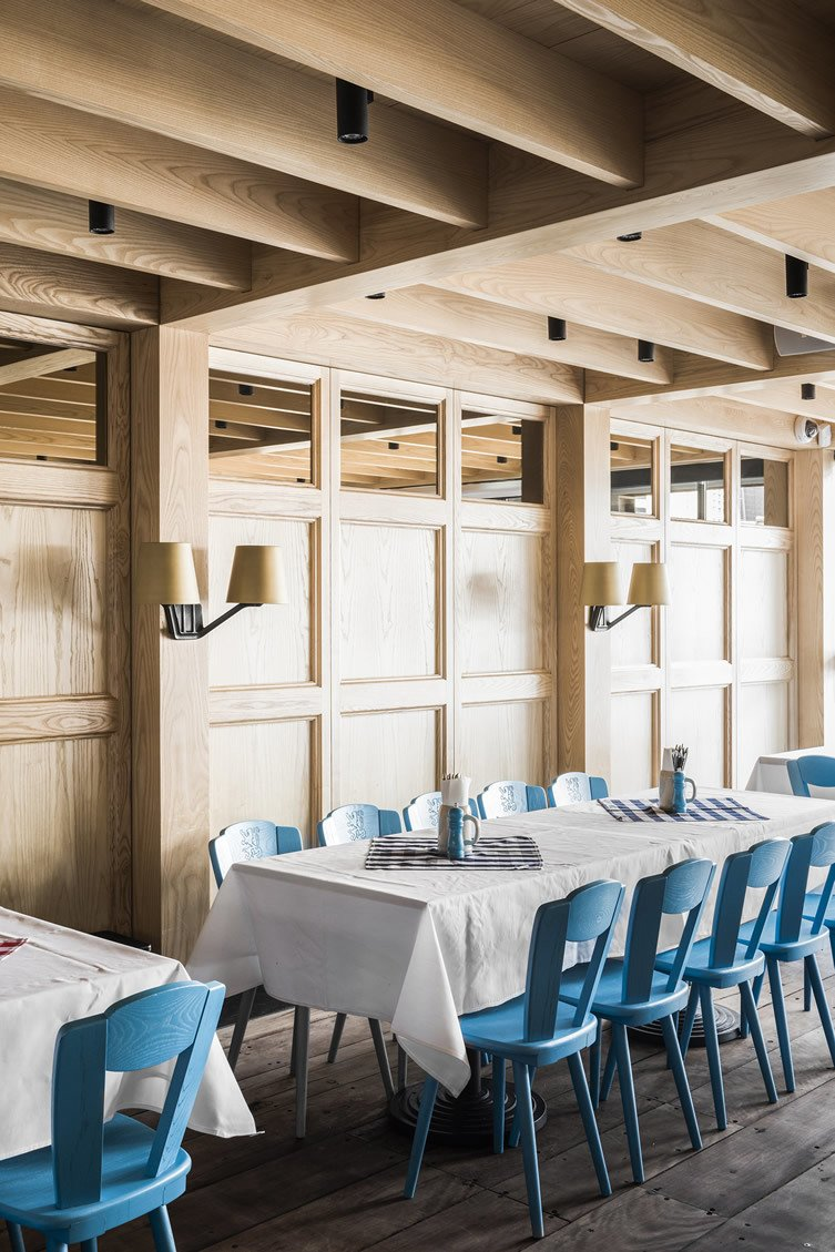 Technē Architecture + Interior Design designed the space with three divided zones—the traditional dining hall, a private function room, and outside seating areas.  Photo 7 of 12 in 10 Brewpubs That Have Tapped the Art of Modern Design