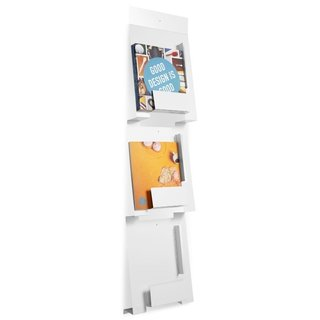 Artfully display your magazines against the wall to avoid clutter.